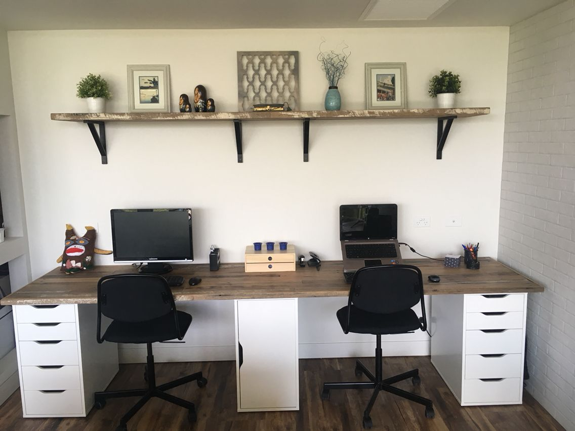 Study desk reclaimed timber decor & layouts pinterest