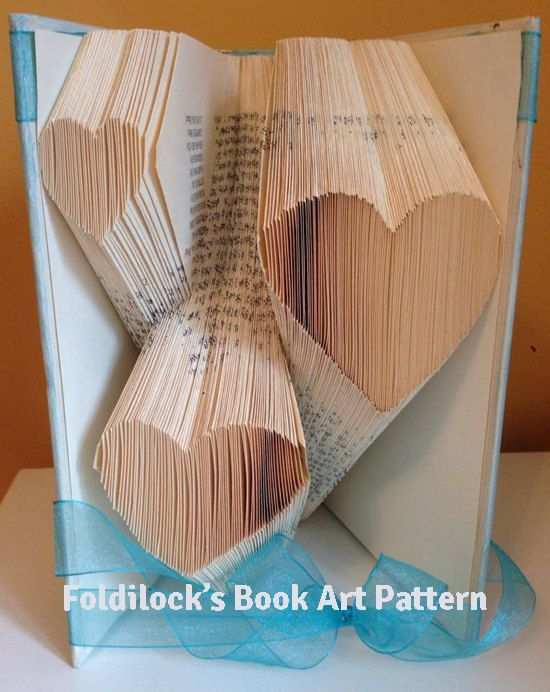 Folded Book Art Part - 45: Multiple Heart Folded Book Art **Pattern** Book Folding Origami Free  Instructions