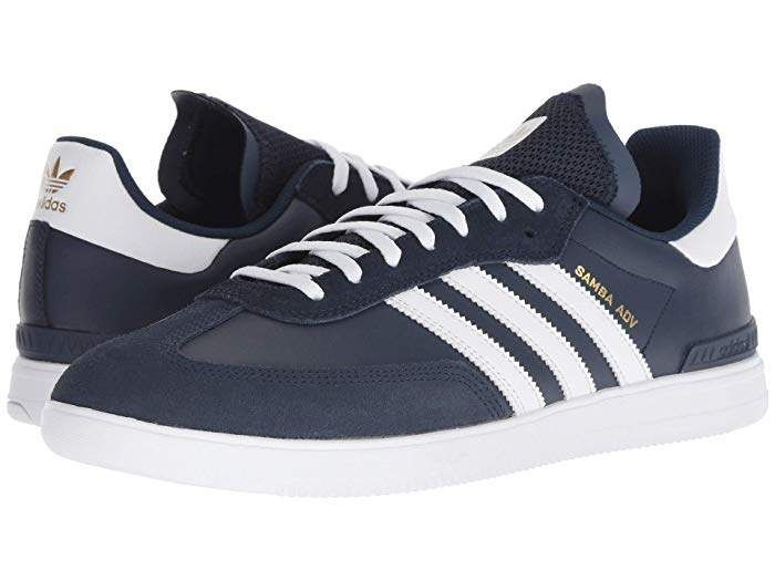 Navy & White Samba ADV Low Top Skater Sneakers | Products