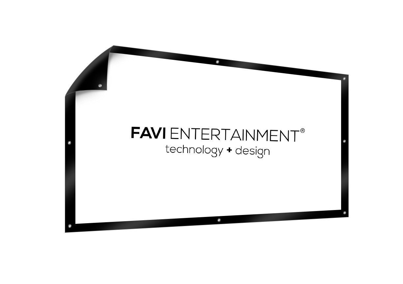 Favi 100 Diy Projector Screen Pvc White Flex Black