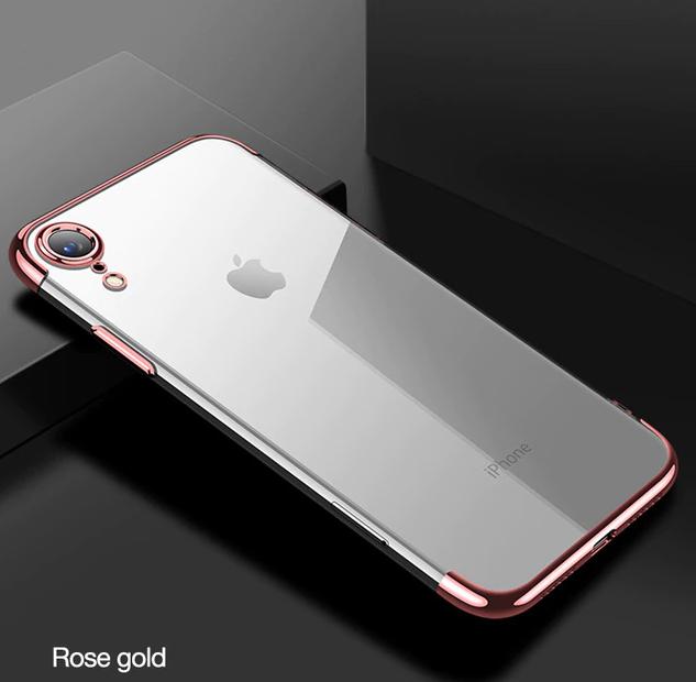 Ružovo-zlatý tenký obal na iPhone XS 80485d56851