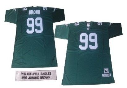 ... france philadelphia eagles 99 jerome brown dark green throwback jersey  nike elite randall cunningham 21206 7b745 53c0109f9