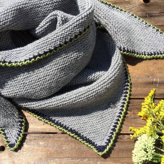 Photo of Knit Triangular Scarf Traditional Scarf Instructions
