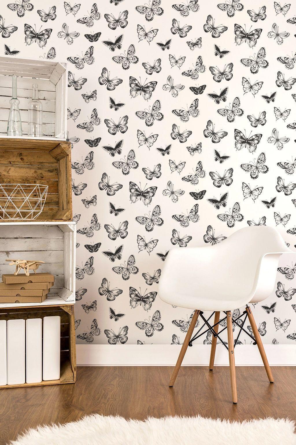 Papeles Pintados De Mariposas Ideales Para Decorar Cualquier Pared  ~ Papeles Decorativos Para Paredes