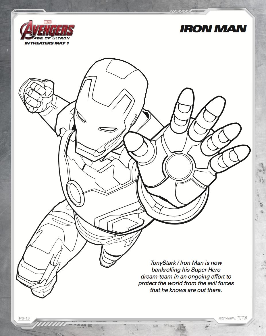 iron-man-coloring-sheet-avengers-ultron.png (926×1172) | PARA ...