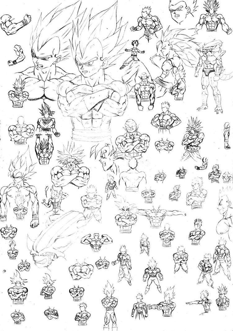Algunos Bosquejos Dragon Ball Artwork Dragon Ball Super Art Dragon Ball Art