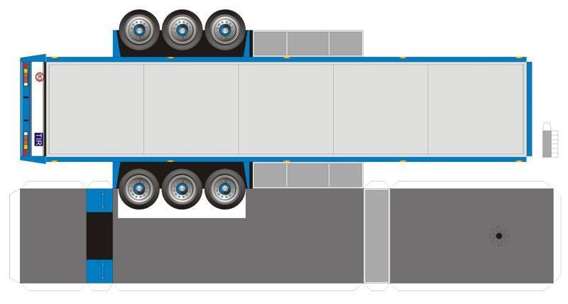 Lorry Papercraft   bouwplaat-papercraft-trailer-work_in_progress ...