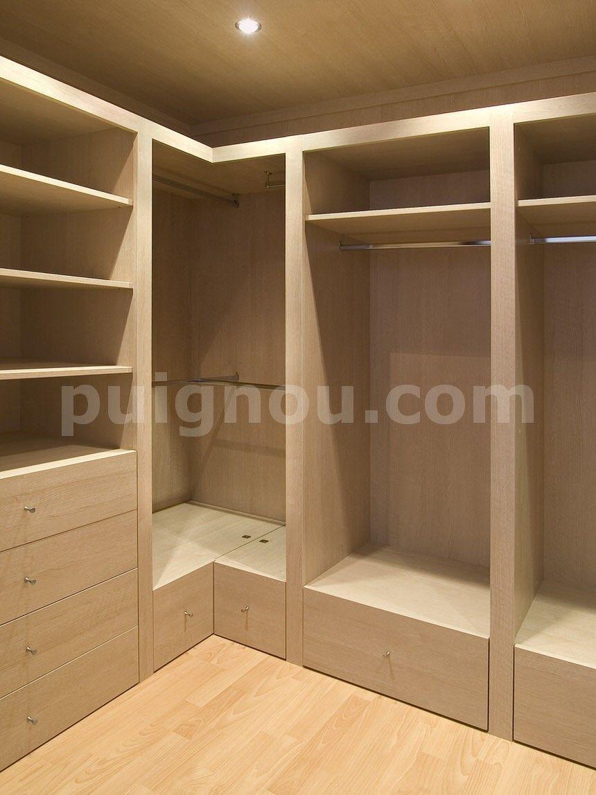 vestidores de madera puignou   muebles   Pinterest   Vestidores de ...
