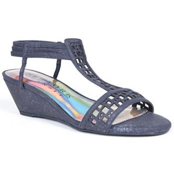 New York Transit Valid Move T-Strap Wedge Sandals - Women