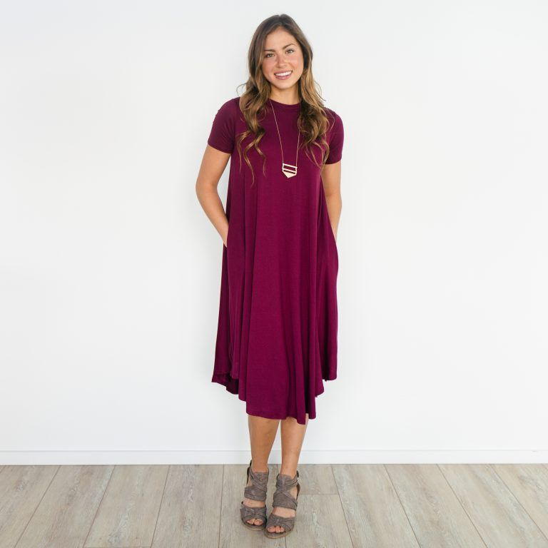 bb6dc7cfd758 Jefferies Swing Dress with Pockets - Burgundy | Called To Surf