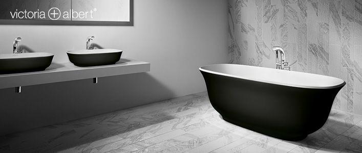 Victoria Albert Amiata Bath And Basin In Black Black Bath