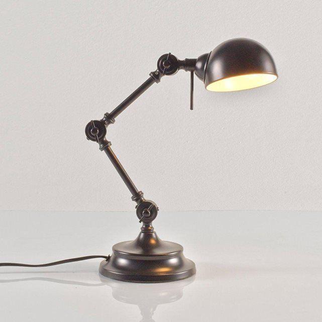 lampe de bureau m tal style industriel kikan bureau. Black Bedroom Furniture Sets. Home Design Ideas