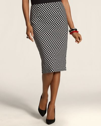 Dot Jacquard Anna Skirt from Chico's on shop.CatalogSpree.com, your personal digital mall.