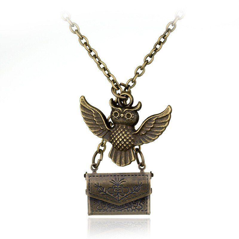 Harry Potter Owl Hedwig Hogwarts Acceptance Letter Necklace