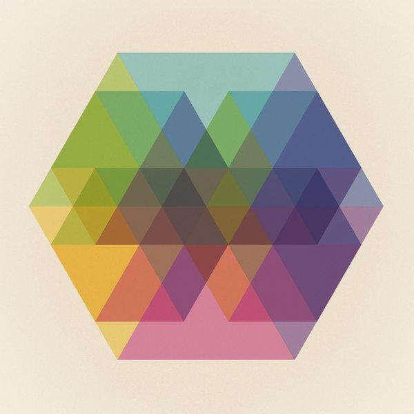 Fig. 040 Hexagon Shapes Art Print | shape | Pinterest | Shape art ...