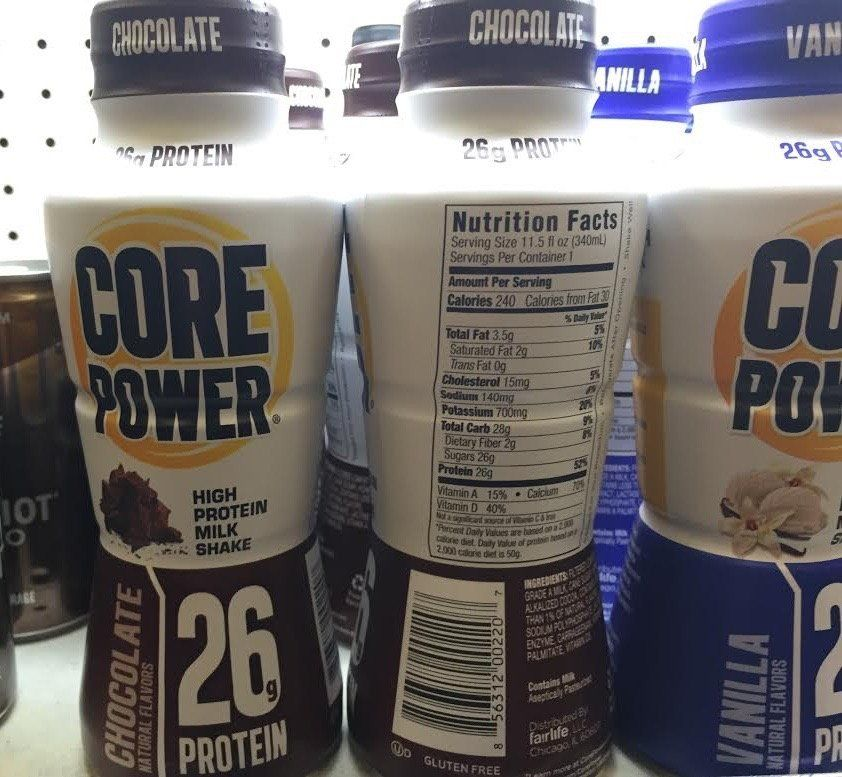 Core Power Protein Shake Healthy Drinks Core Power Protein Shake Nutrition Facts