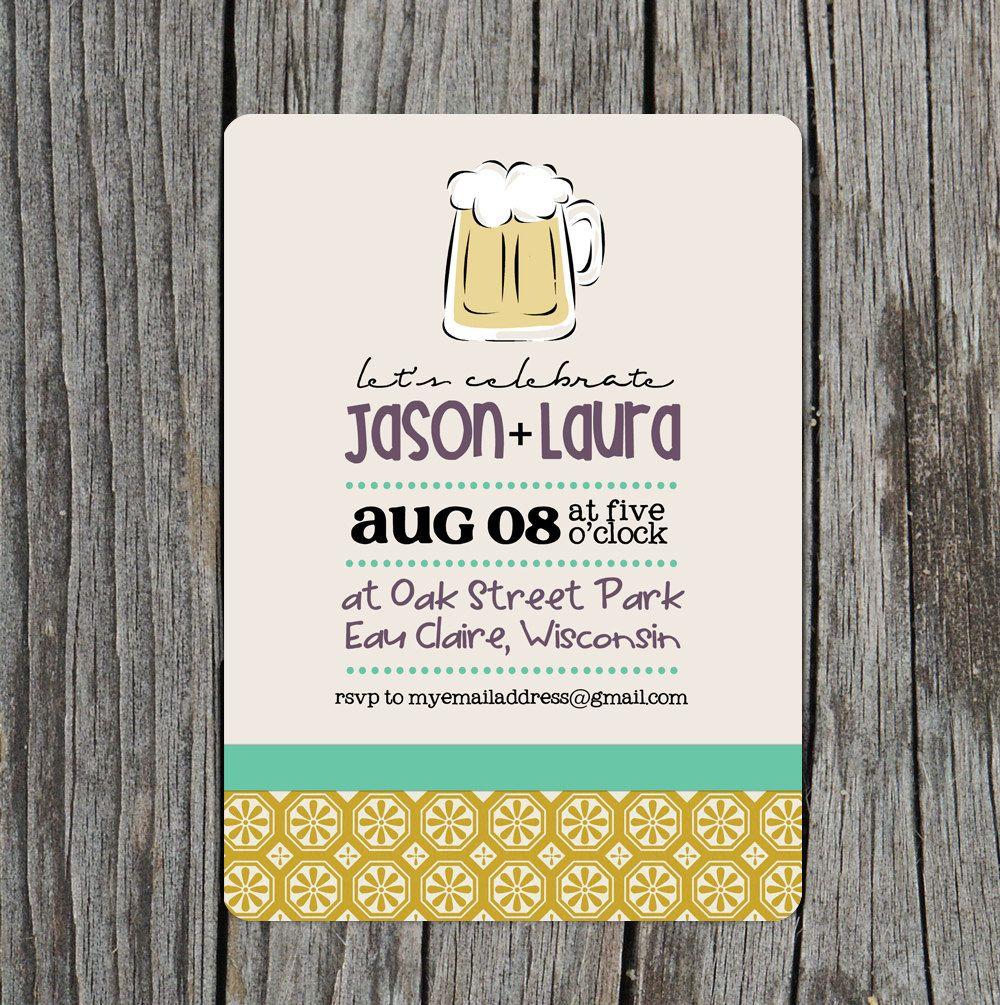Beer Wedding Shower Invitations #beer #wedding #Invitations ...
