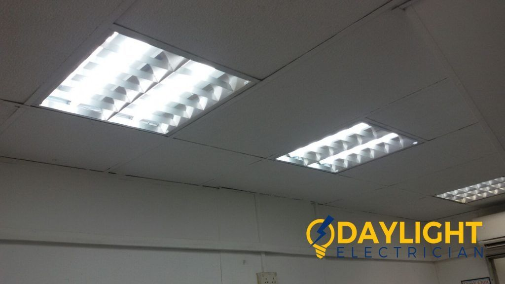 Change Office Fluorescent Lights Electrician Singapore Office Ang