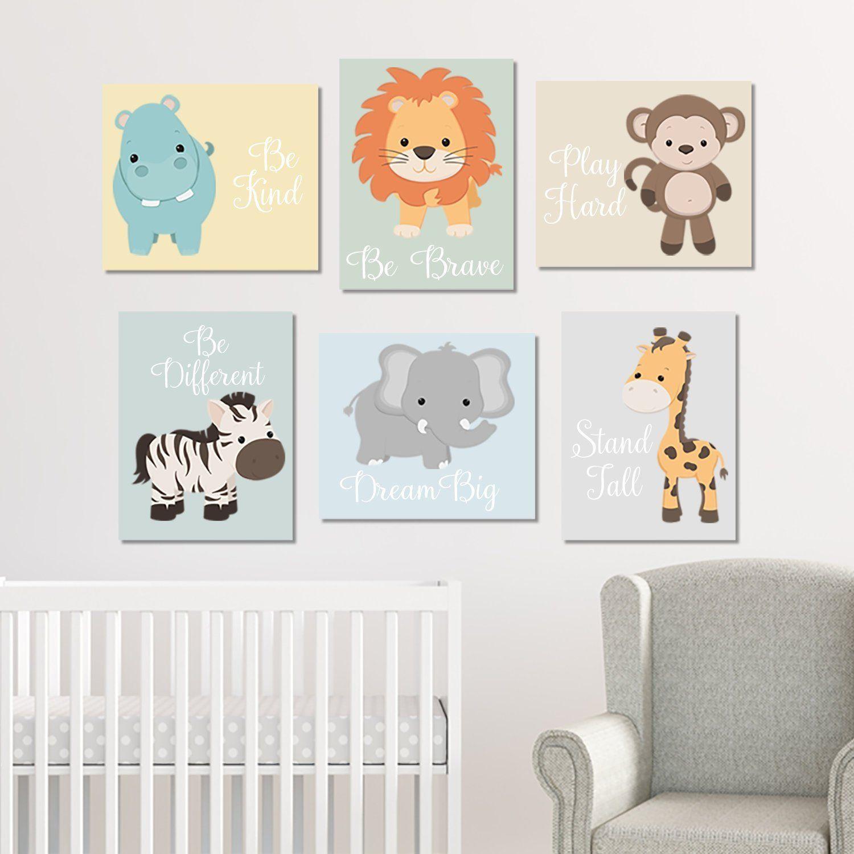 Zoo Animal Nursery Wall Art Zoo Animal Prints Or Canvas Baby Etsy Baby Boy Nursery Decor Animal Nursery Zoo Animals Nursery