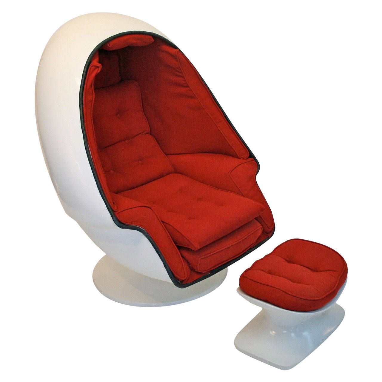 Egg Chairs For Sale Cheap Rare Tony Casello Associates Egg Chair And Ottoman For Harman