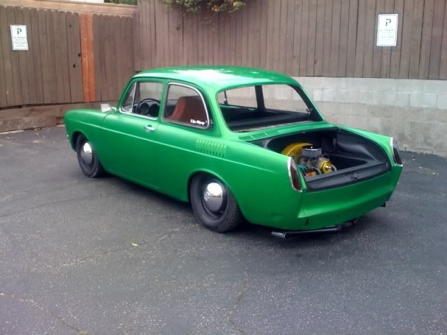 Slammed VW Type 3 notchback  This thing was for sale on