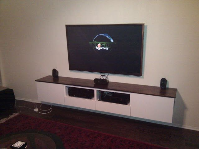 Ikea Hackers Besta Floating Media Center We Did This In Black Love It