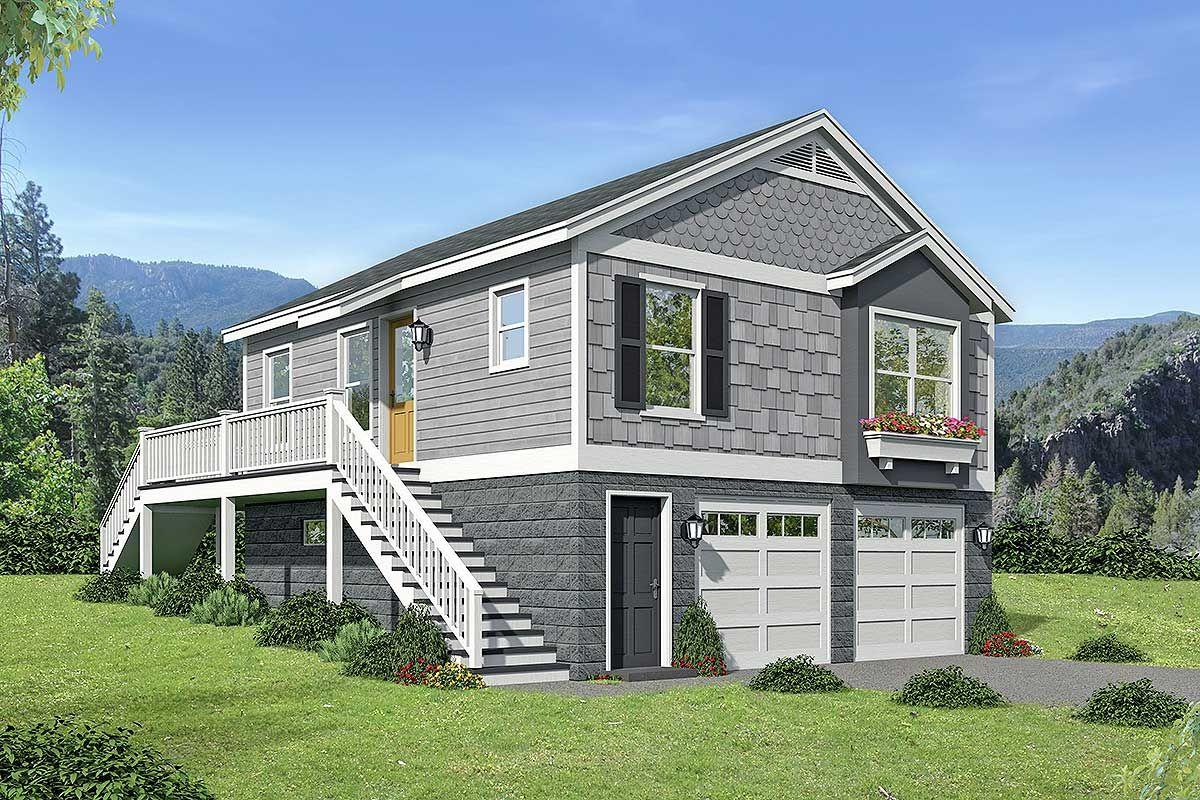 Plan 68515VR One Bedroom Starter House Plan in 2020