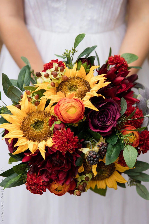 Sunflower Wedding Bouquet Create your own silk flower