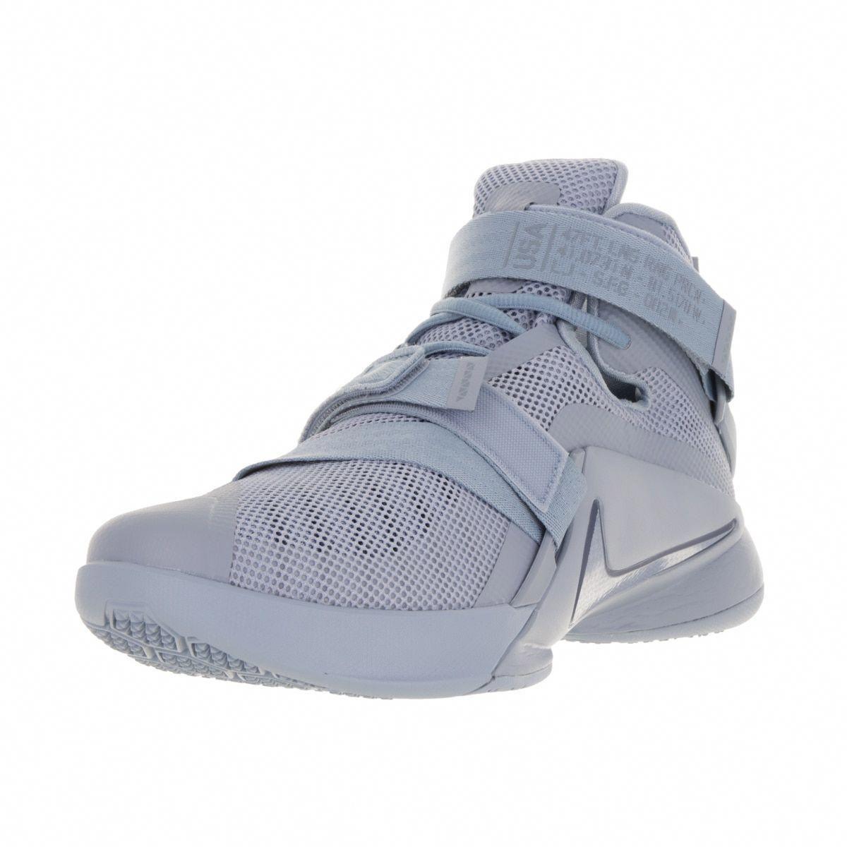 22fc666182d Nike Men s Lebron Soldier IX PRM Blue  Blue  Sqdrn Blue Basketball Shoe   basketballonline