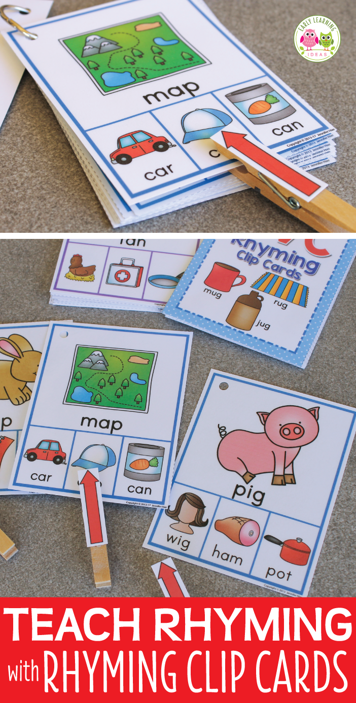 Rhyming Activity for Kids | Interactive CVC Rhyming Words Clip Cards