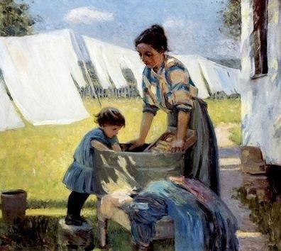 Wash Day A Back Yard Reminiscence Of Brooklyn Ada Walter Shulz