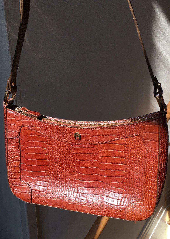 UK-Shop klassisch neue Version Vintage Crocodile Skin Purse | Etienne Aigner Brown Leather ...