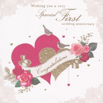 First Wedding Anniversary Card Lily Be
