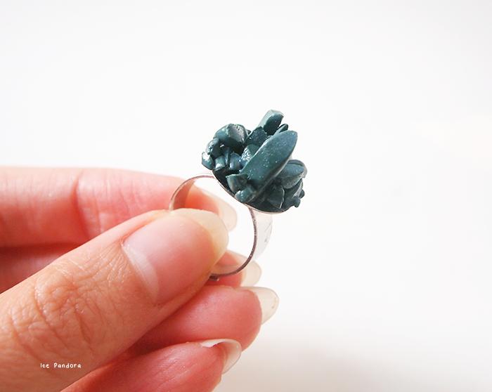 DIY Polymer Clay Crystal Ring Tutorial
