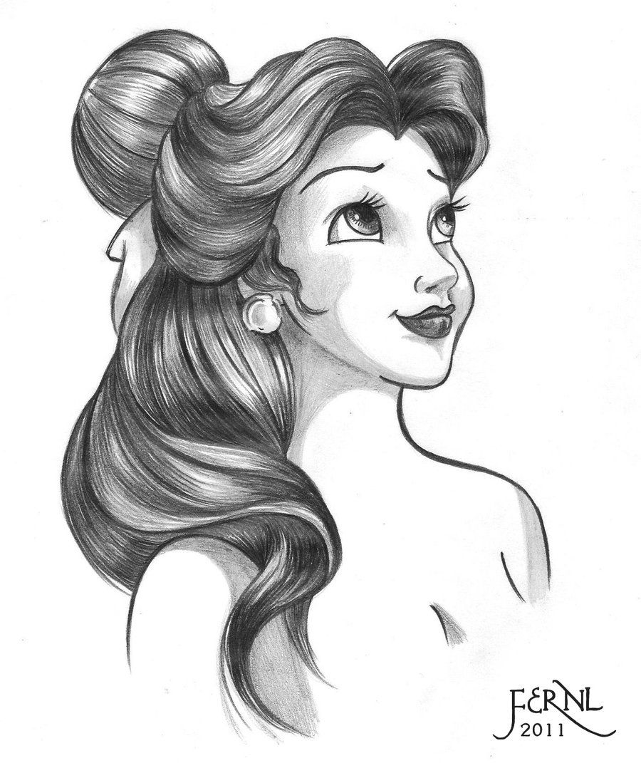 Disney Drawings: BELLE By FERNL.deviantart.com On @deviantART
