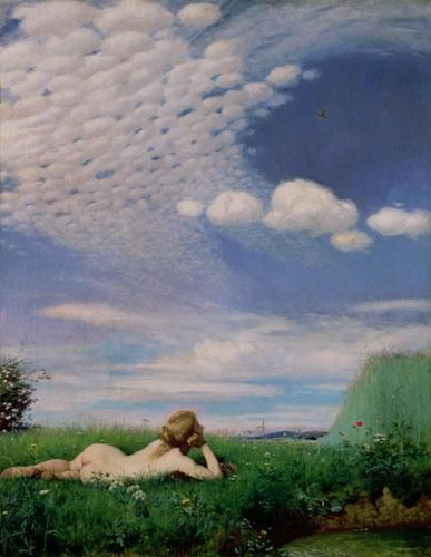 The Lark, 1882 Art Print by Pal Szinyei Merse at King & McGaw