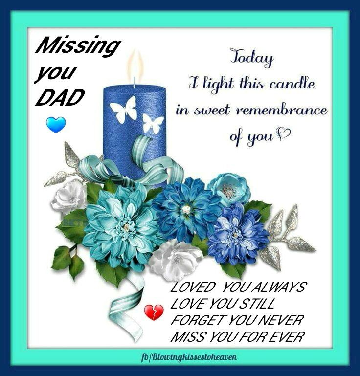 Missing My Dad In Heaven On Your 10th Anniversary That You Left