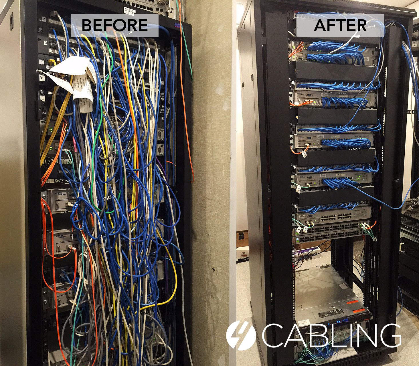 small resolution of special thanks to our customer marc f for sending through this fantastic before after cabling job he completed over the weekend wow is all we can say