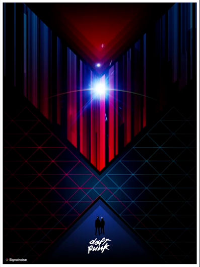 Daft Punk Poster Art, by James White of Signalnoise