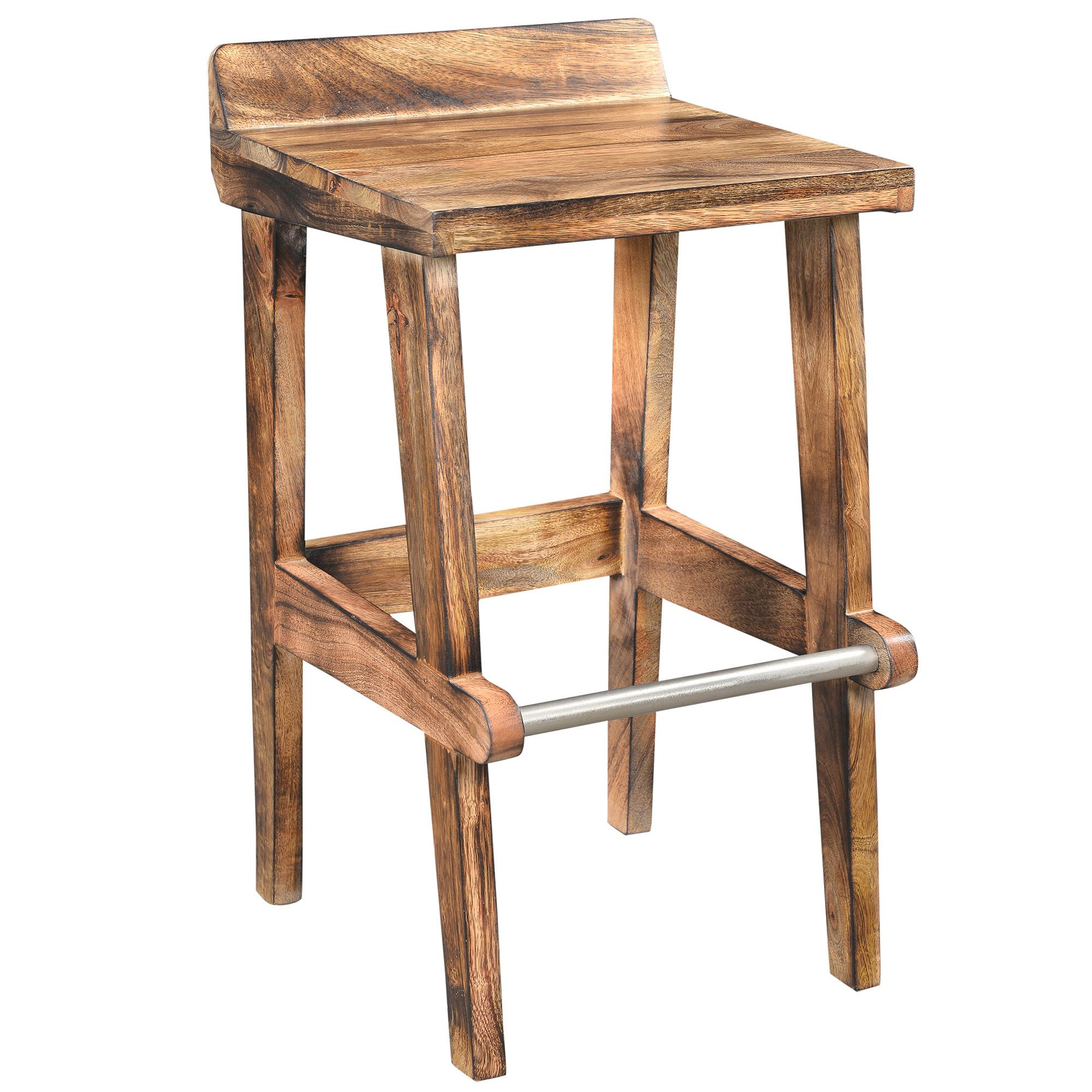 Worldwide Ace Solid Mango Wood 26 Inch Counter Stool Solid Mango