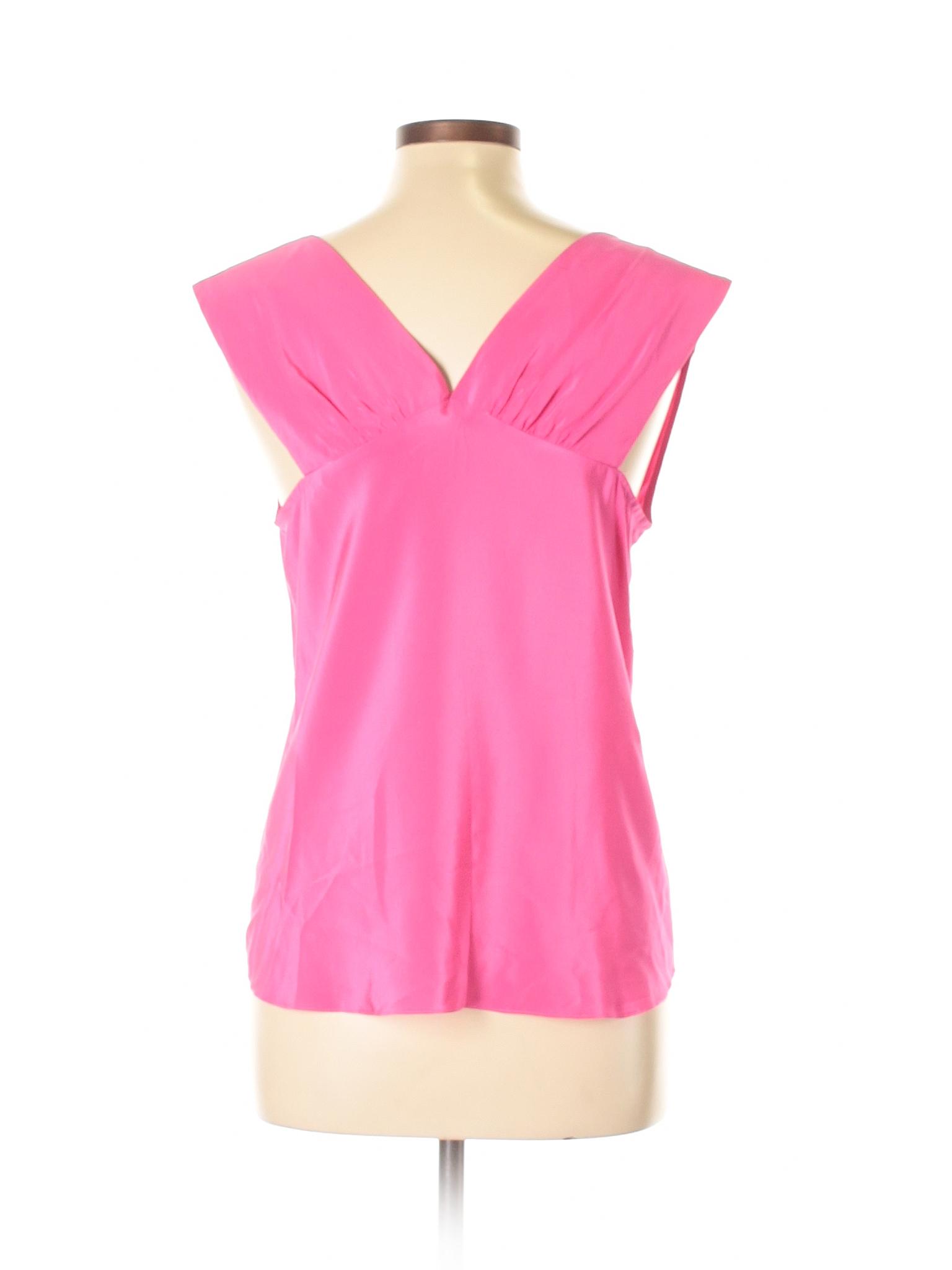 7b7bdac7f3b57c Amanda Uprichard Sleeveless Silk Top  Size 12.00 Pink Women s Tops -  50.99