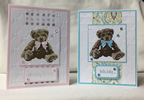 Bear and Hello Baby Greeting Cards by SealedwithakiDesigns on Etsy