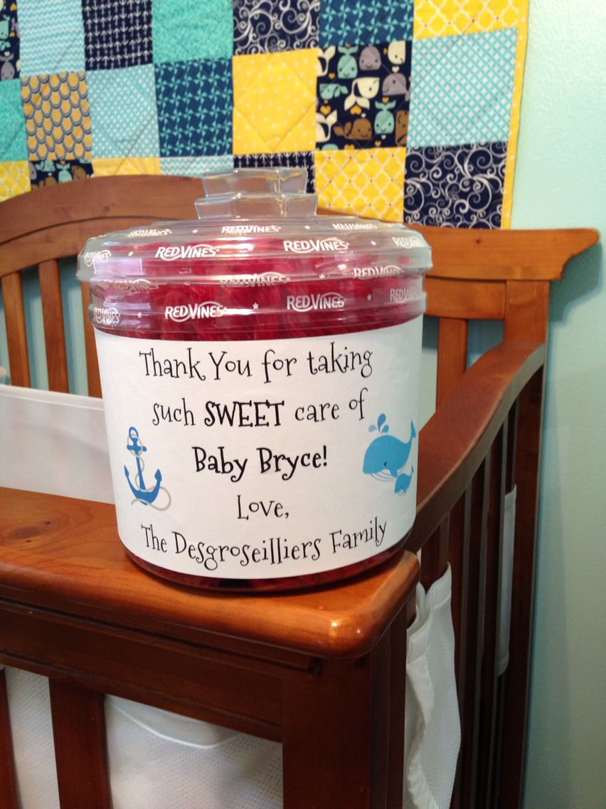 A simple thank you for the staff in the maternity ward