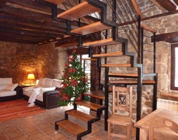 escaleras rusticas casas Pinterest Ideas para - escaleras de madera rusticas