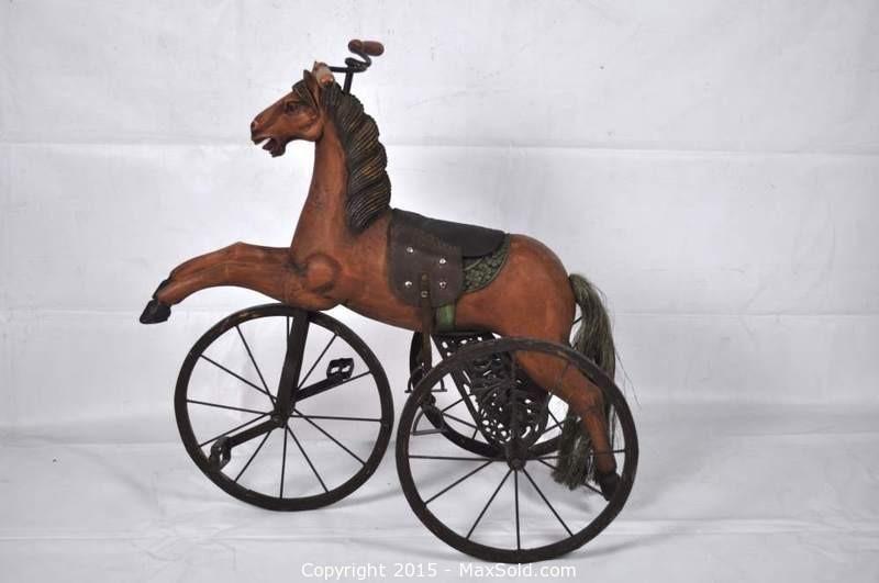 Antique Horse Tricycle Antique Bicycles Antique Rocking Horse Antiques