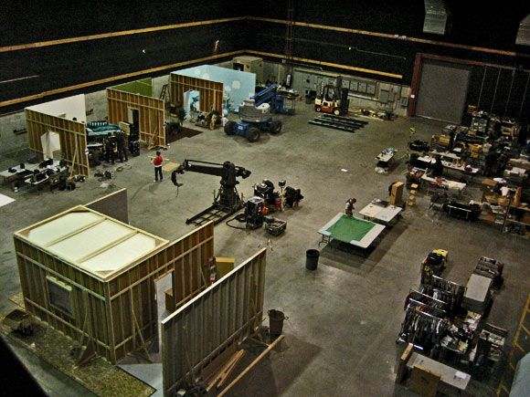 Row Of Sets On A Sound Stage Again The Layout Merry