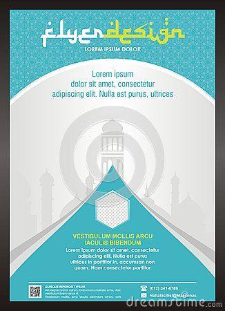 Islamic flyer brochure template design editable for Islamic brochure design