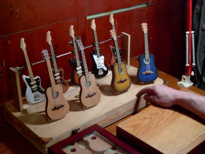 miniture guitars ~ pic only