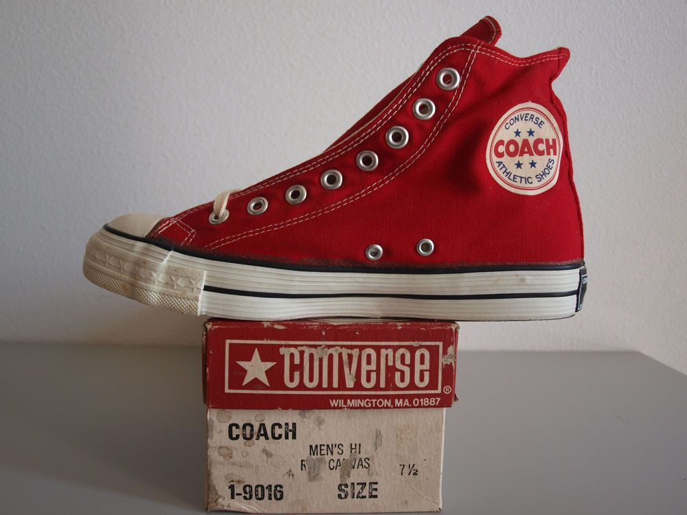8c58cf7dd43b Converse Coach 1975 US 7.5 Deadstock BNIB Vintage All Star Stars Ultra Rare   Converse  Athletic
