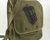 CUSTOM ART - Personalized Hand Painted Art-  Vintage Style Military Canvas Backpack / Rucksack.  Hunger for a new bag.. $57.00, via Etsy.